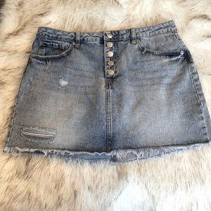 Kendall & Kylie button fly Jean skirt